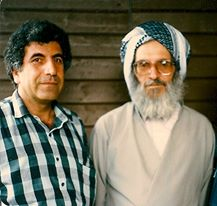 Kak Shahin with Sheikh Izz eddin Hussieni | Lgel Shêx Izzeddîn Huseynî: Uppsala, 1988 (Sweden)
