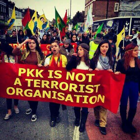 Kurdish Community in the UK protest against the western label of terrorism against the PKK.